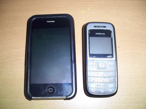 iPhone 3GS and Nokia 1200