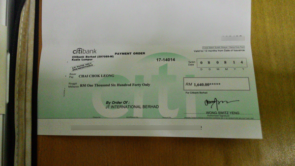 JTINTER Cheque