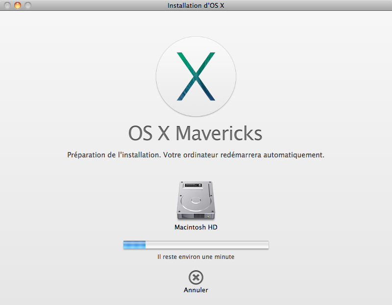 Installing Mavericks