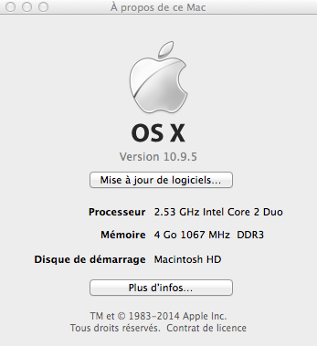 Mavericks 10.9.5 is installed