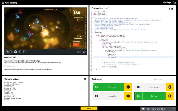 CodinGame online IDE