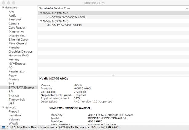 Kingston V300 SSD Negotiated Link Speed is 3 Gigabit