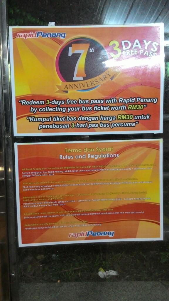 Rapid Penang Free Bus Pass