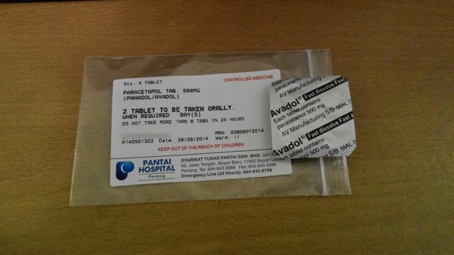 Panadols from Pantai Hospital
