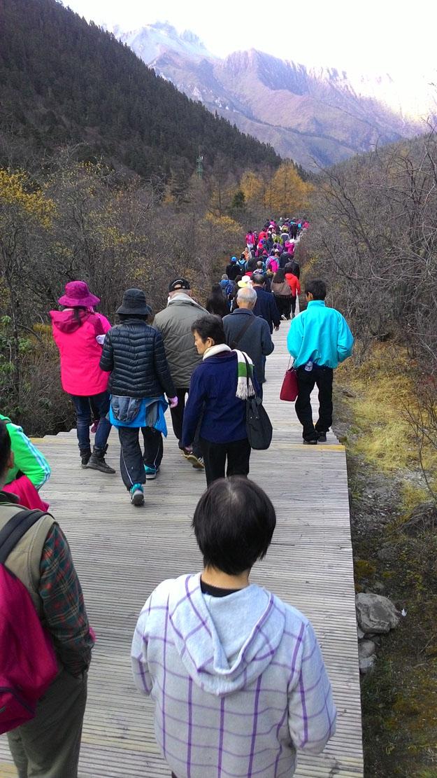 Walking down HuangLong