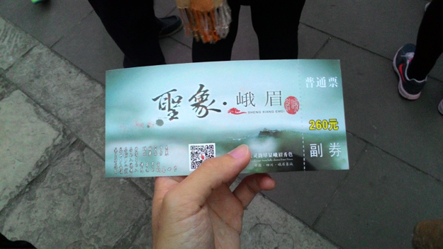 Ticket for night show